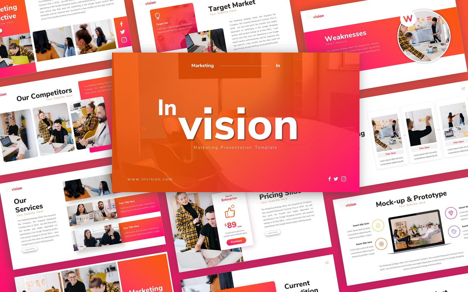 Inivision Marketing Presentation PowerPoint Template