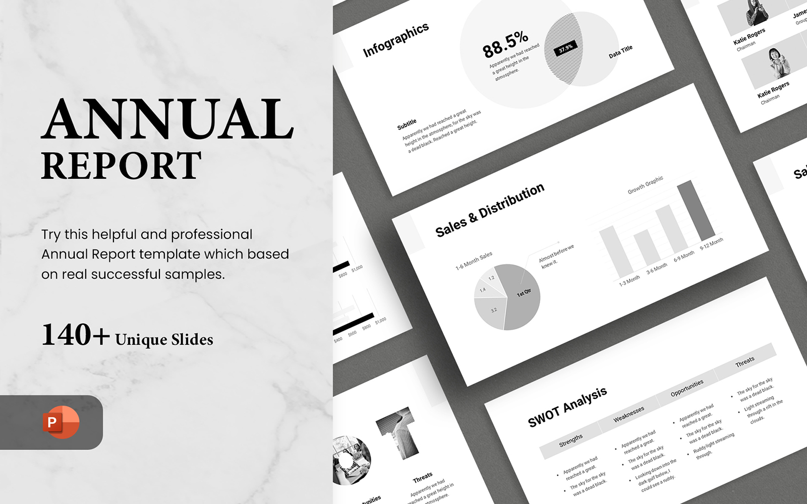 Annual Report - Smooth Animated PowerPoint Template