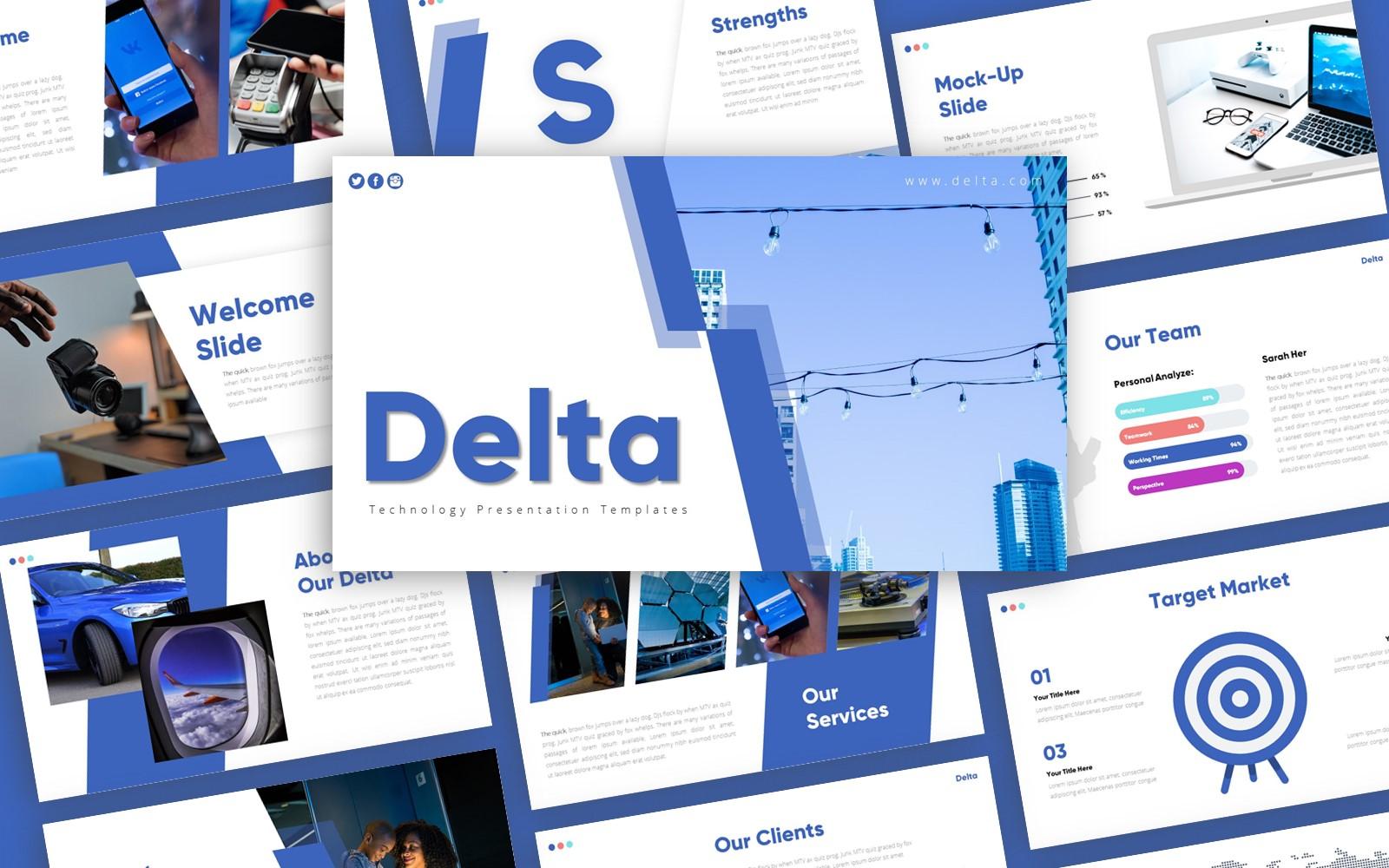 Delta Technology Presentation PowerPoint Template