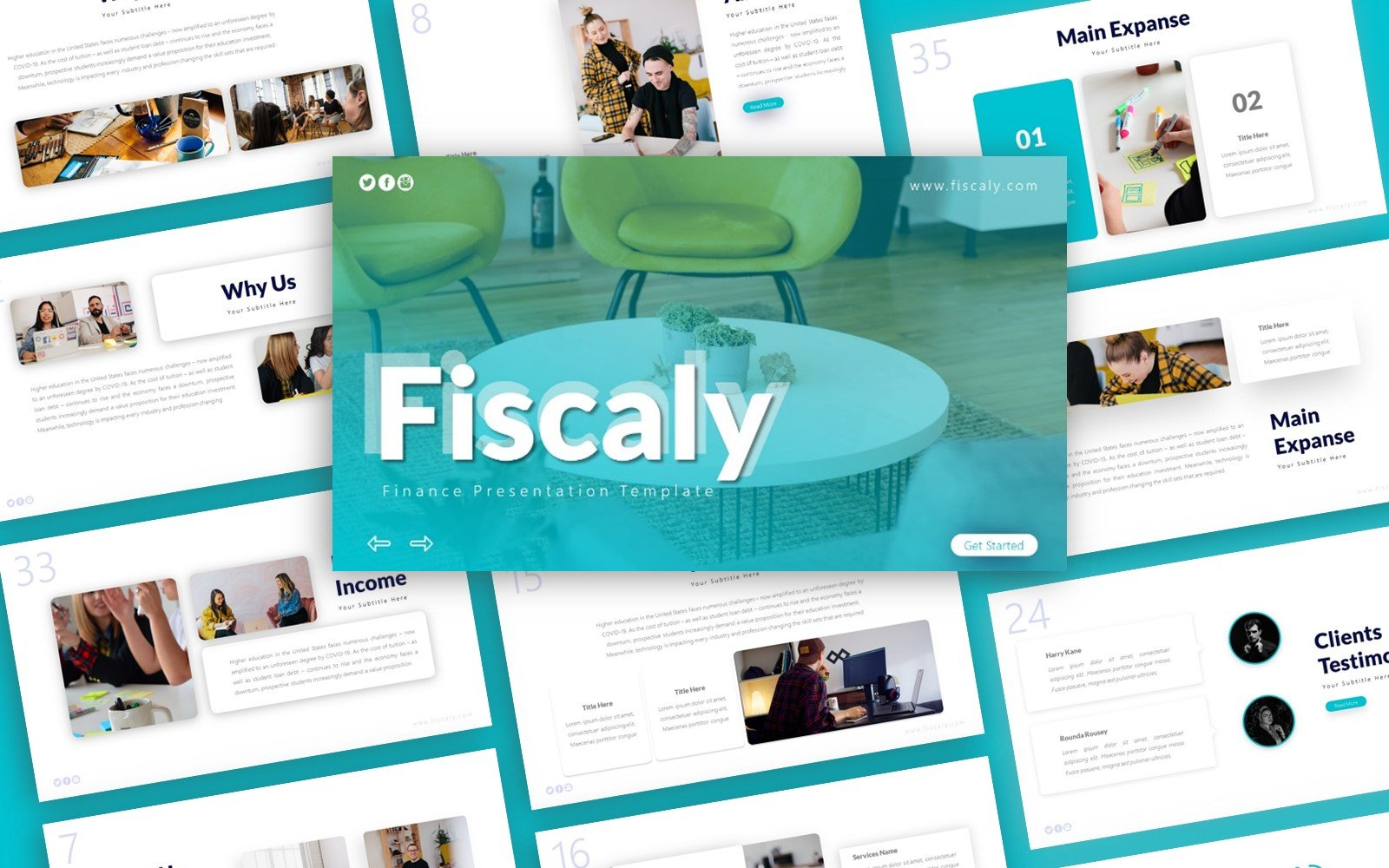Fiscaly Finance Presentation PowerPoint Template
