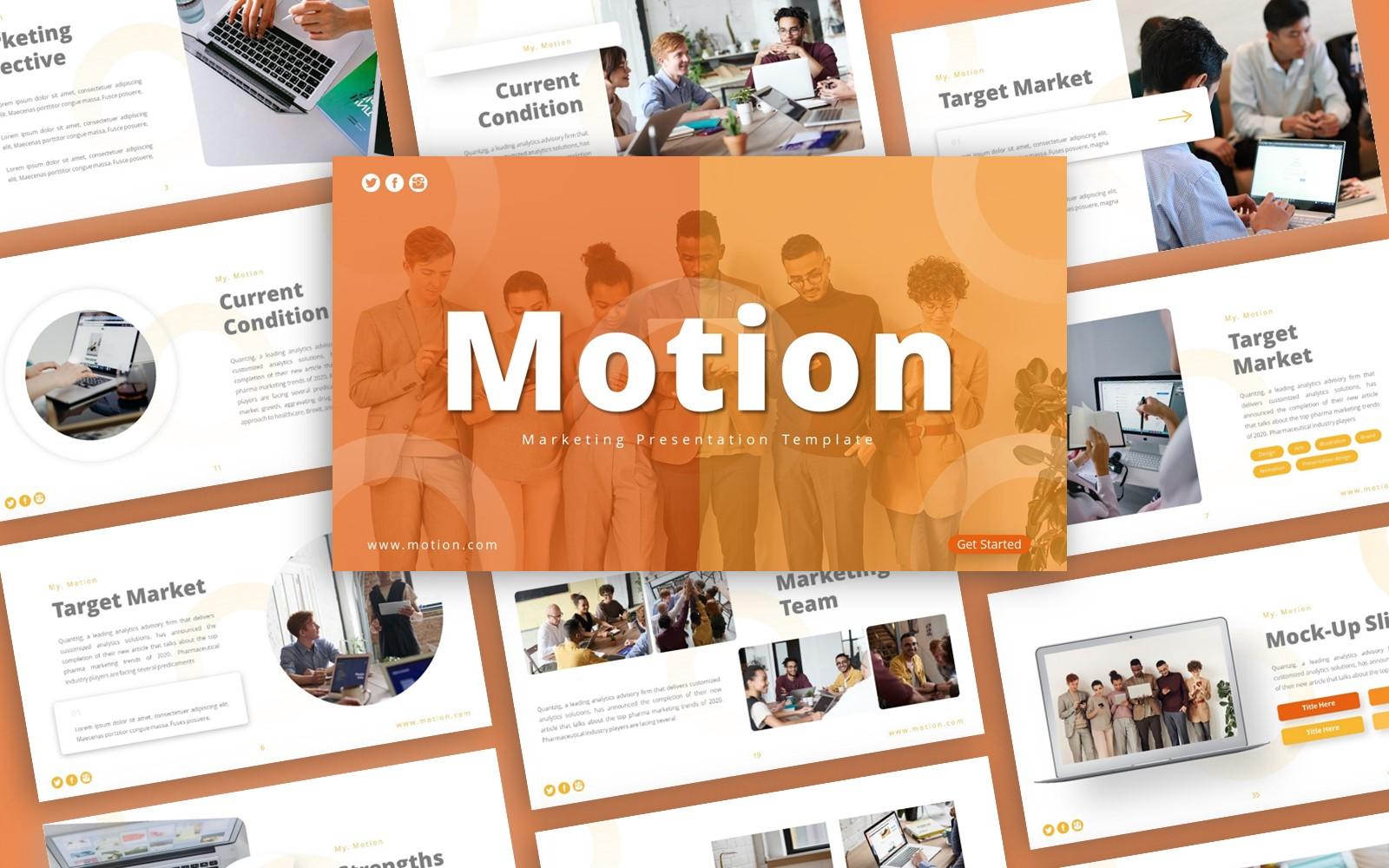 Motion Marketing Presentation PowerPoint Template