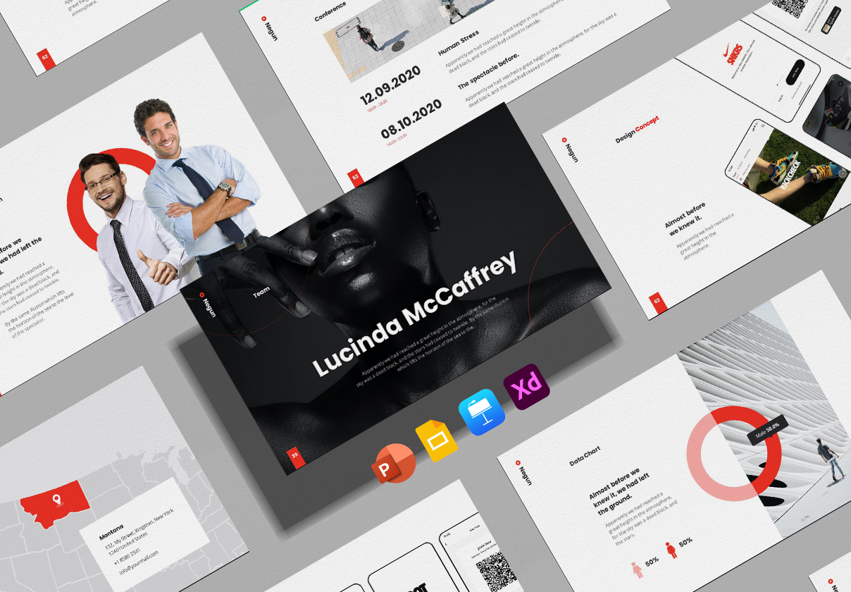 Negun - Smooth Animated Presentation Package PowerPoint Template