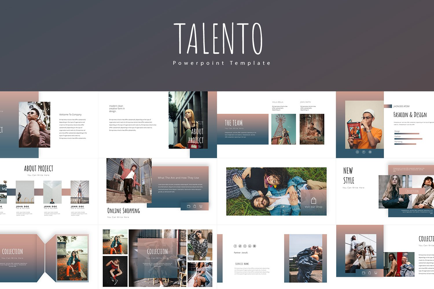 Talento  Presentation PowerPoint Template