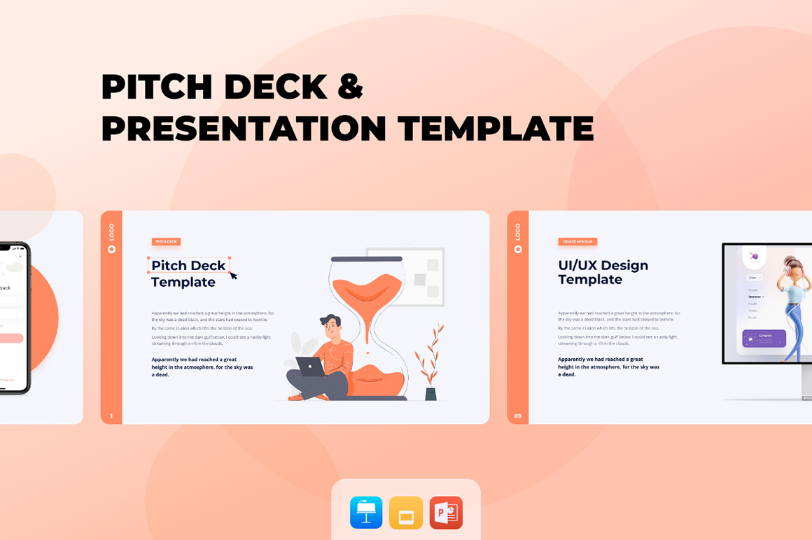 Pitch Deck - Smooth Animated Presentation Bundle PowerPoint Template