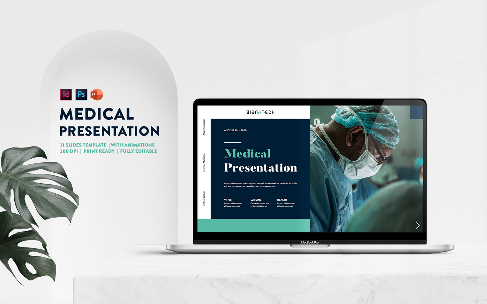 Medical Healthcare Presentation PowerPoint Template