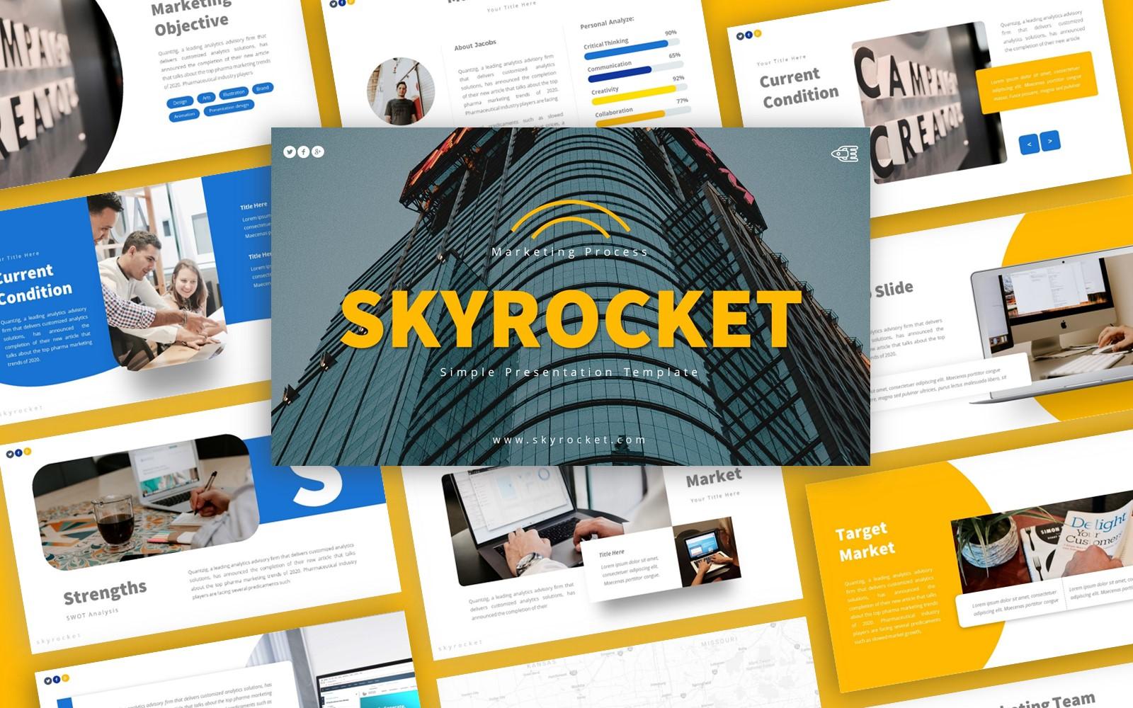 Skyrocket Marketing Presentation PowerPoint Template