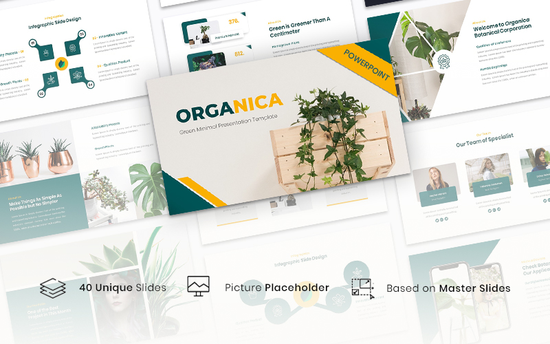 Organica - Green Minimal PowerPoint Template