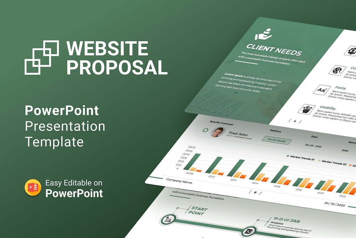 Website Proposal  Presentation PowerPoint Template