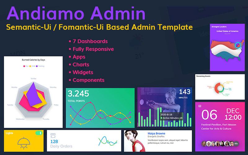 Andiamo Admin - Semantic-Ui / Fomantic-Ui Based Responsive Admin Template