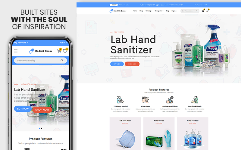 Medikit Bazar - The Medicine & Medical Equipments Premium Shopify Theme