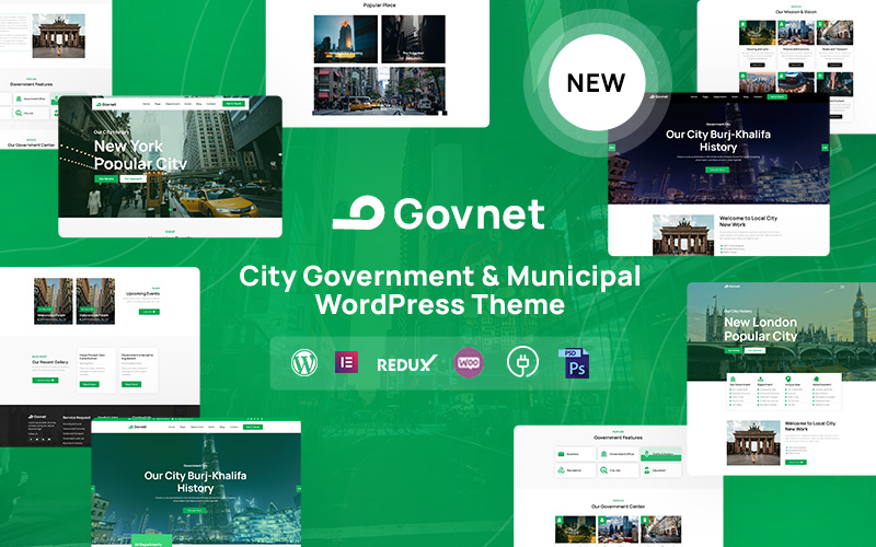 Govnet - City Government and Municipal Responsive WordPress Theme
