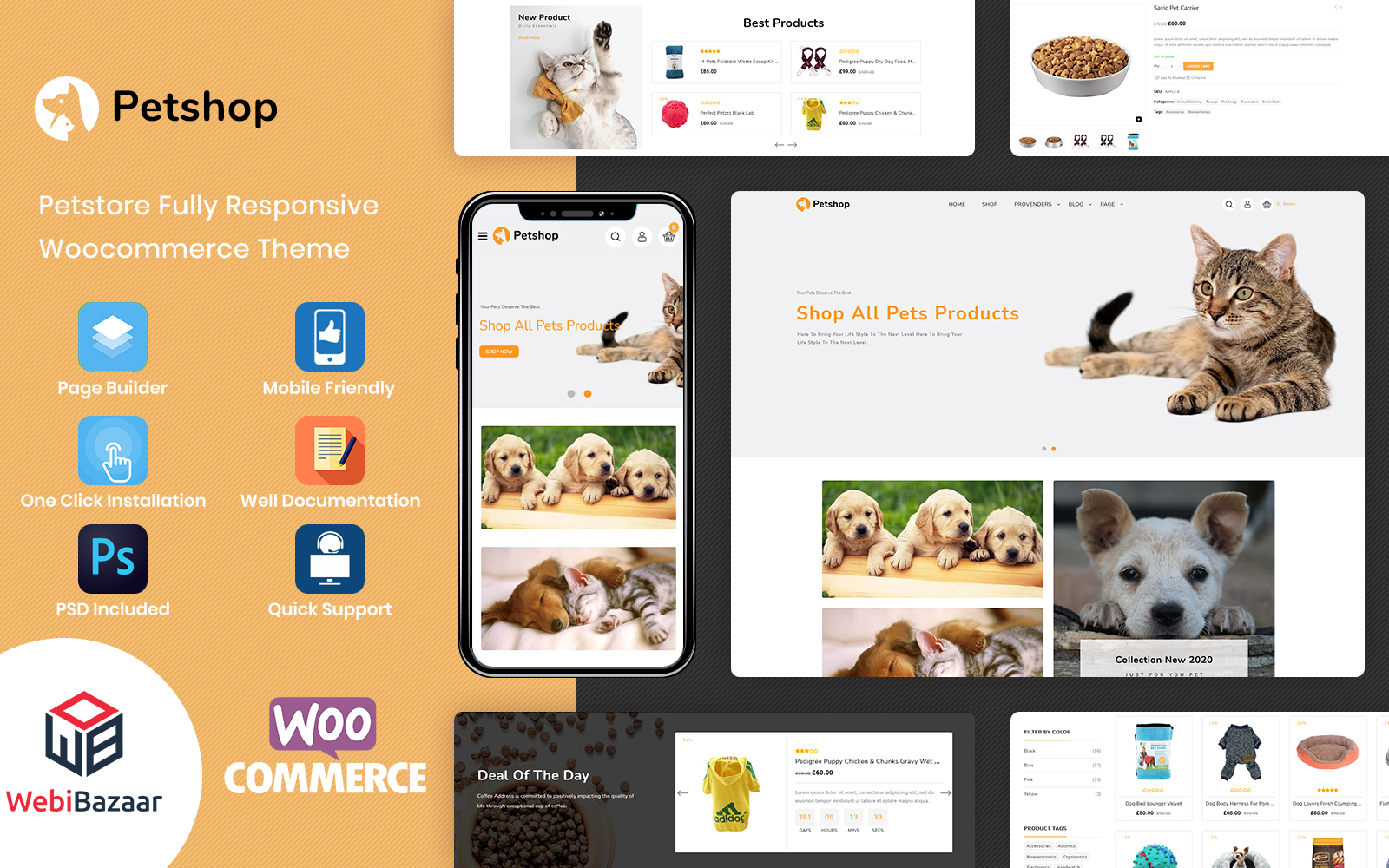 Petshop - Pet Store and Pet Food WooCommerce Theme