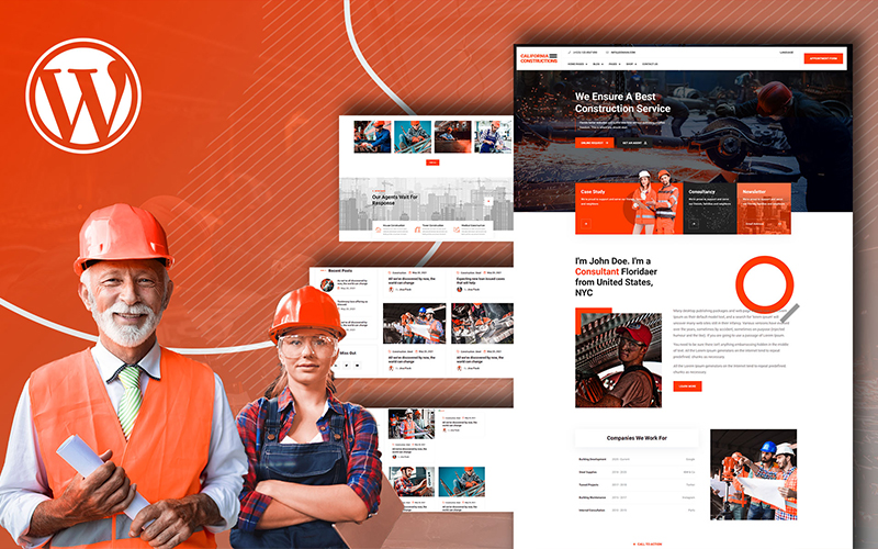 Cali Constructions | Construction & Tools Shop WordPress Theme