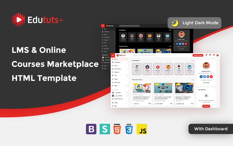 Edututsplus - LMS & Online Courses Marketplace Website Template