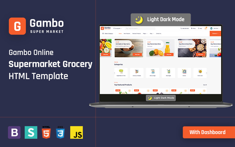 Gambo - Online Grocery Supermarket HTML Website Template