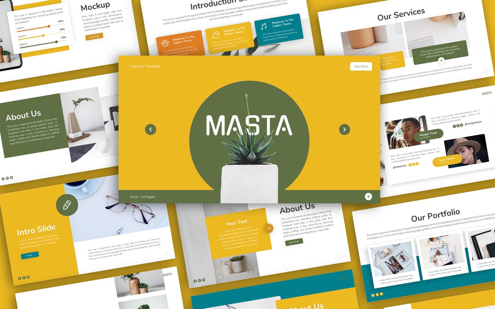Masta Creative Presentation PowerPoint Template
