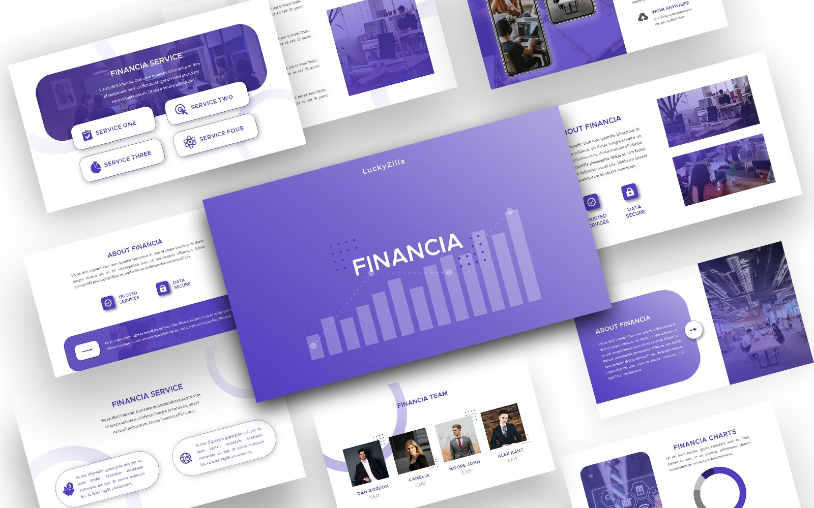 Financia - Fully Animated Multipurpose  Presentation PowerPoint Template