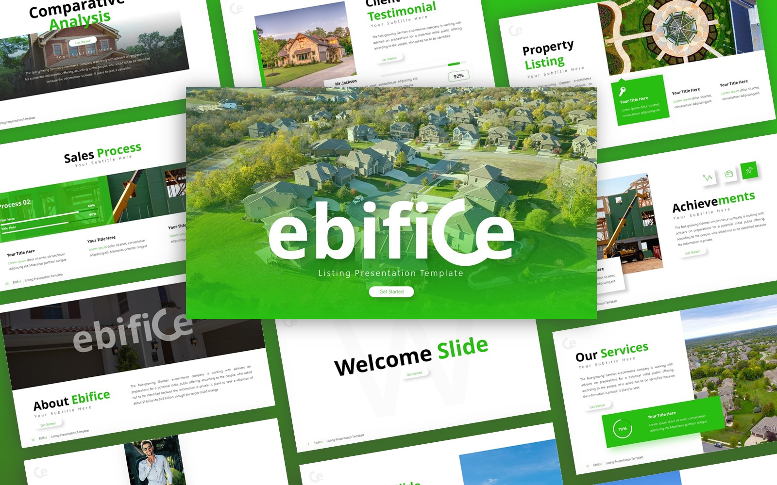 Ebifice Listing Presentation PowerPoint Template
