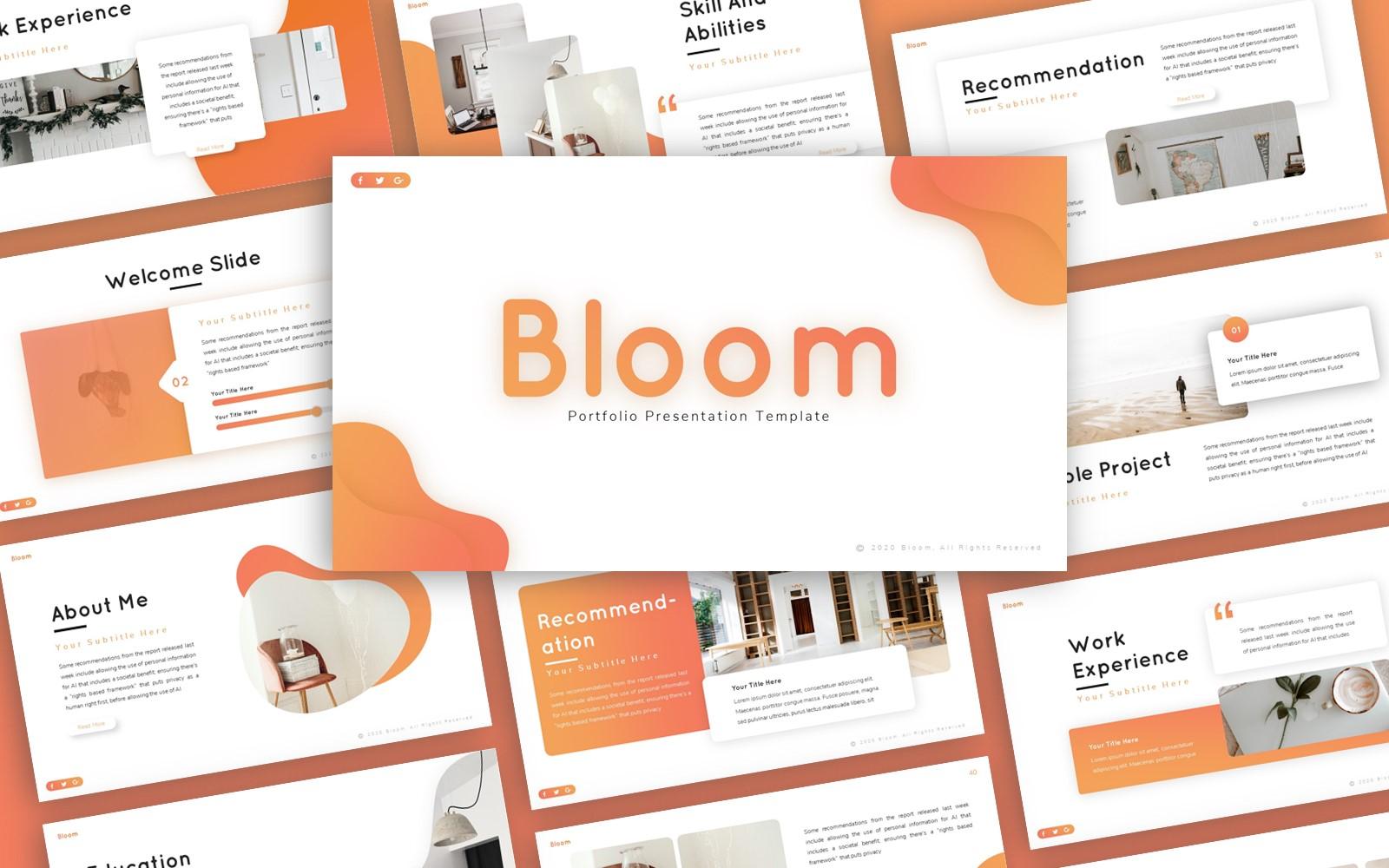 Bloom Portfolio Presentation PowerPoint Template