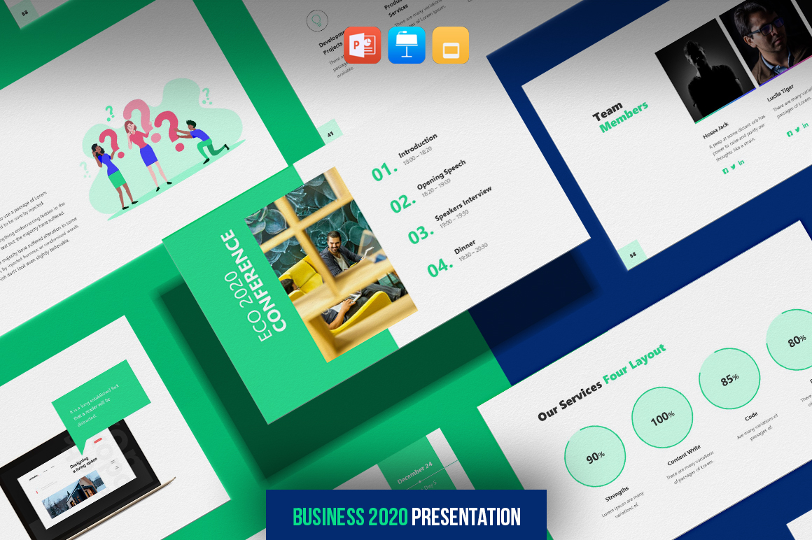 Business 2021 - Smooth Animated Presentation Bundle PowerPoint Template