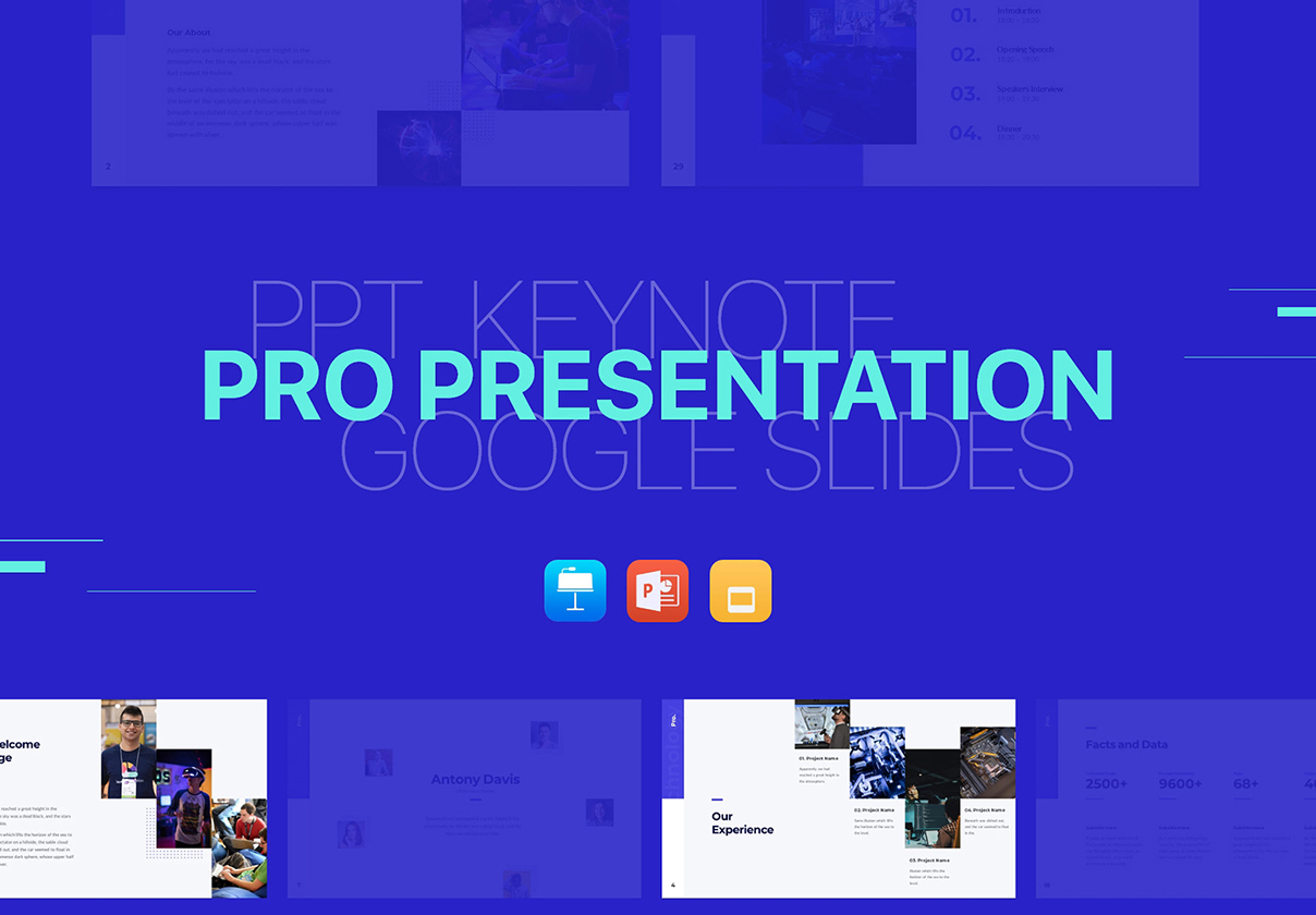 Pro Presentation - Smooth Animated Bundle PowerPoint Template