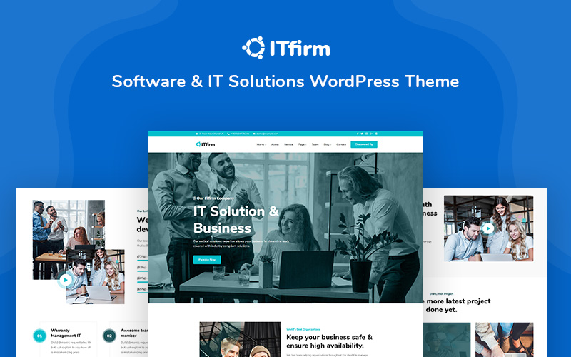 ITfirm - Software and IT Solutions Responsive WordPress Theme