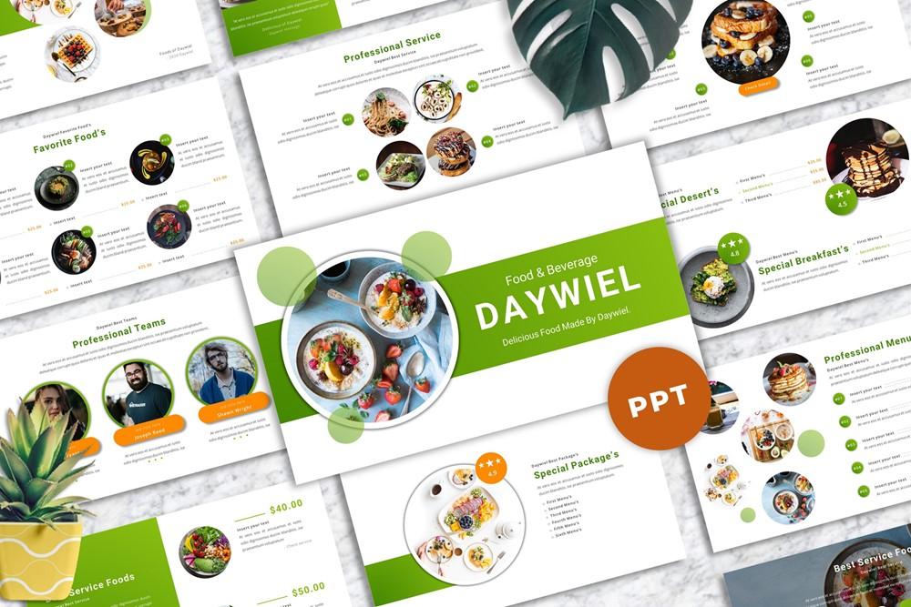 Daywiel - Food & Beverage PowerPoint Template