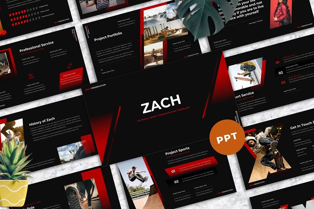Zach - Extreme Sport PowerPoint Template