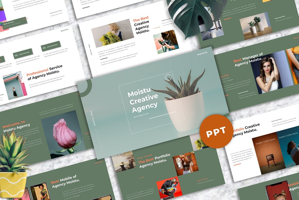 Moistu - Creative PowerPoint Template