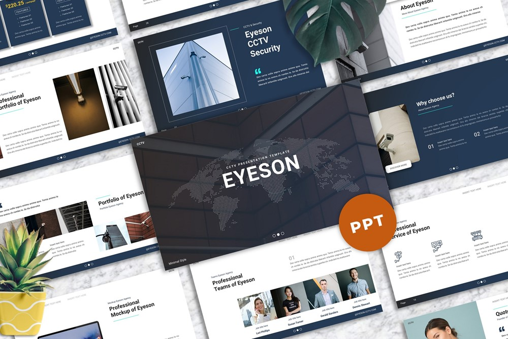 Eyeson - CCTV PowerPoint Template
