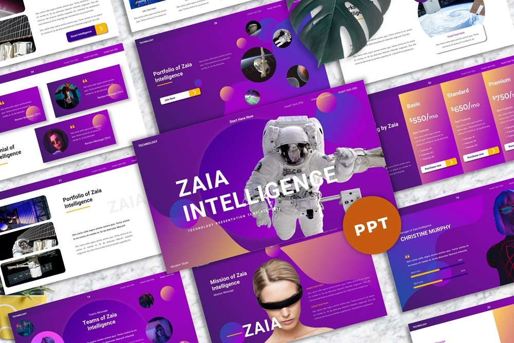 Zaia - Technology PowerPoint Template