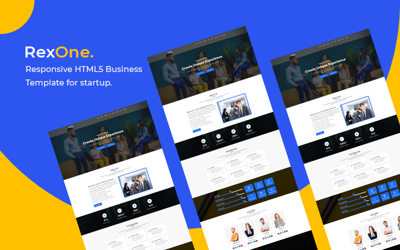 Rexone - Responsive HTML5 Business Landing Page Template