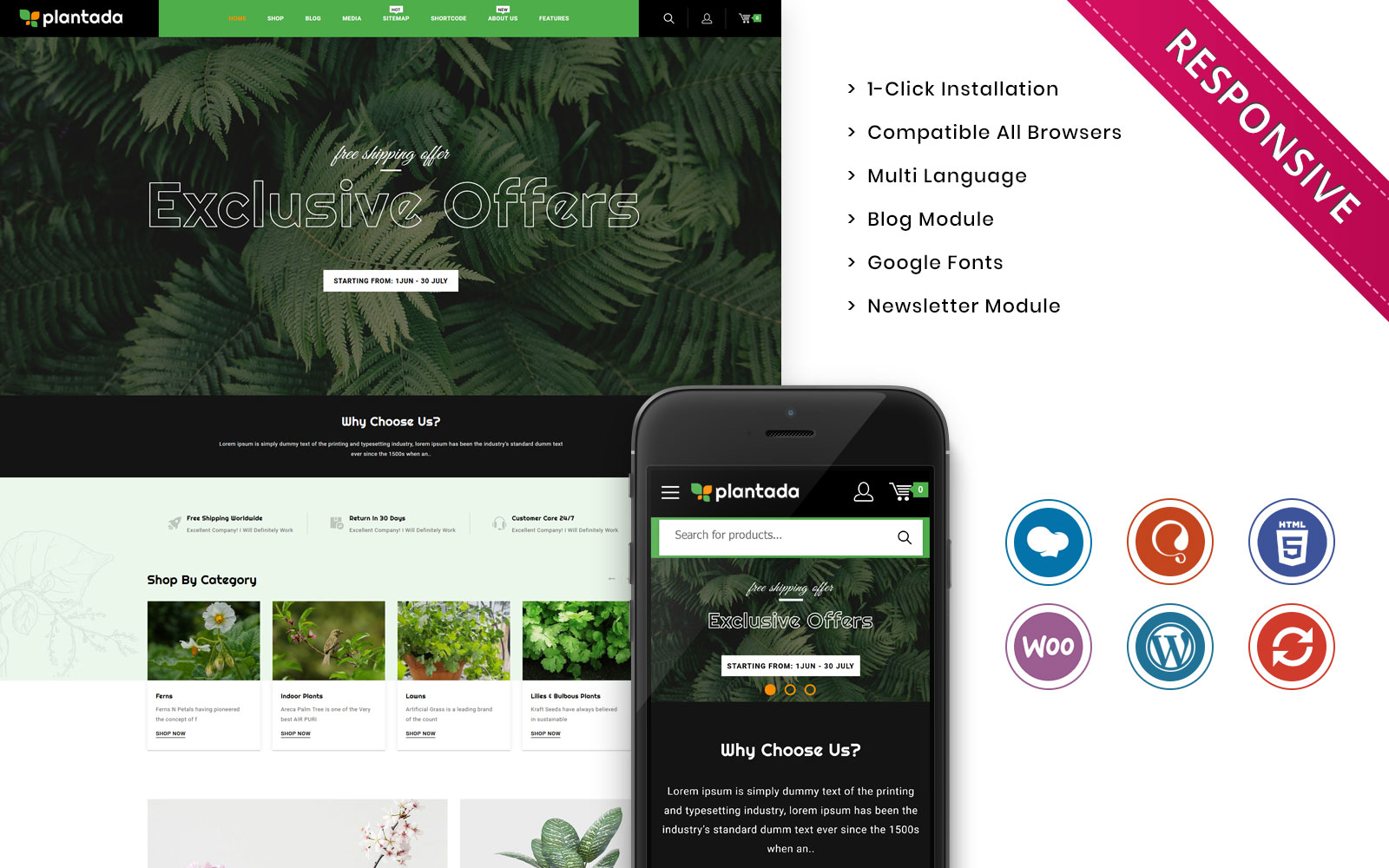 Plantada - The Flower Nursery Store WooCommerce Theme