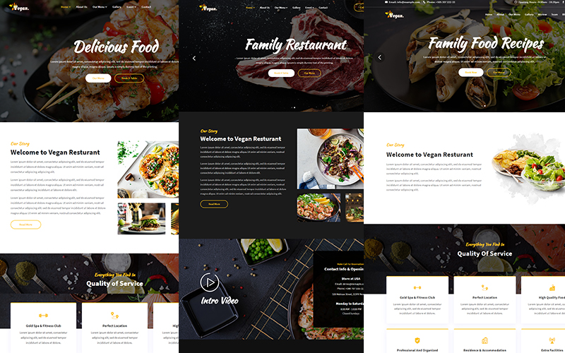 Vegan - Food & Resturant HTML Website Template
