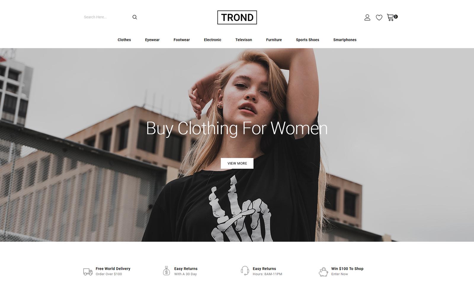 Trond - Fashion Designer Store PrestaShop Theme