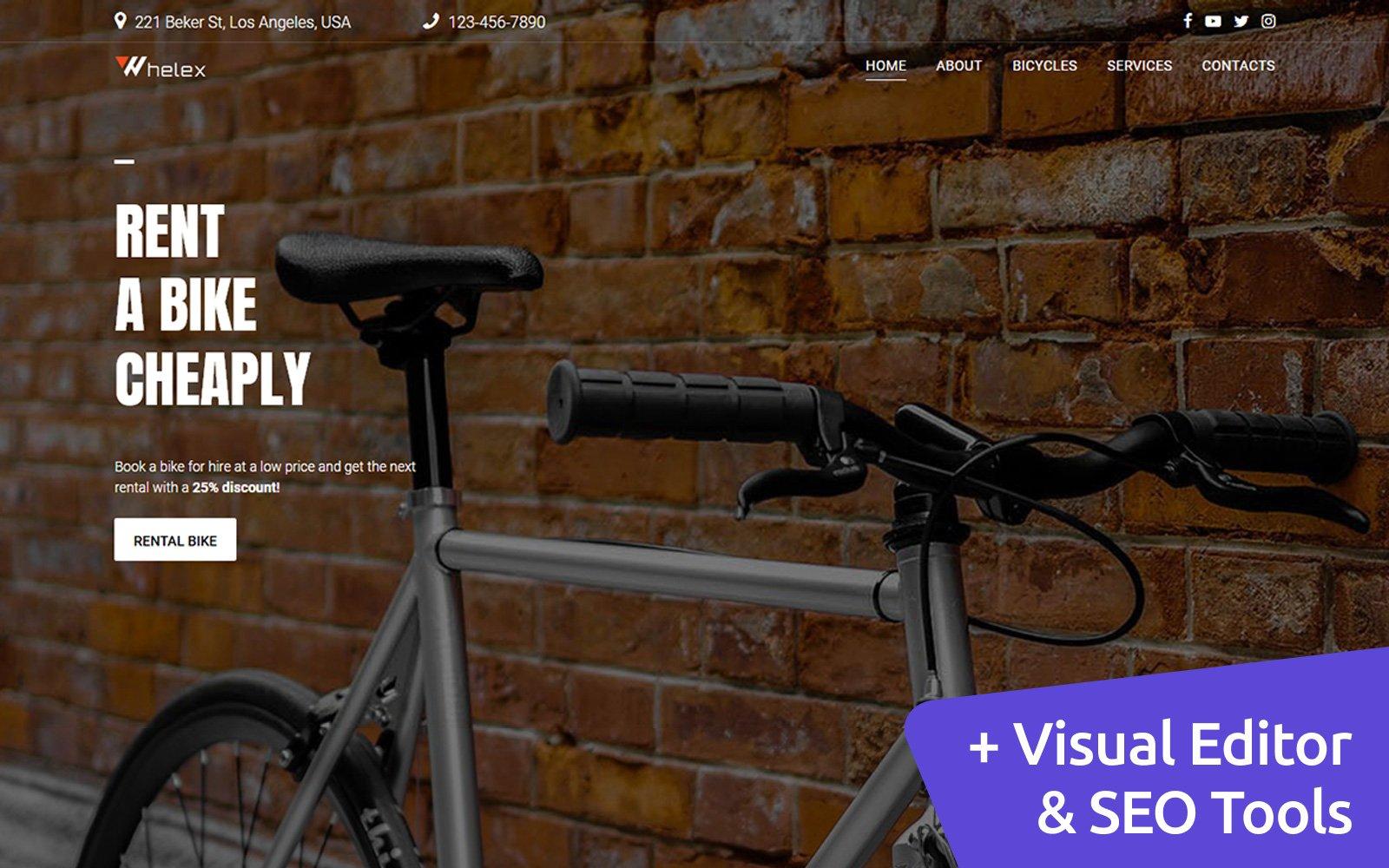 Whelex - Bike Rent Moto CMS 3 Template
