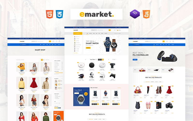 Emarket - Multipurpose eCommerce Website Template