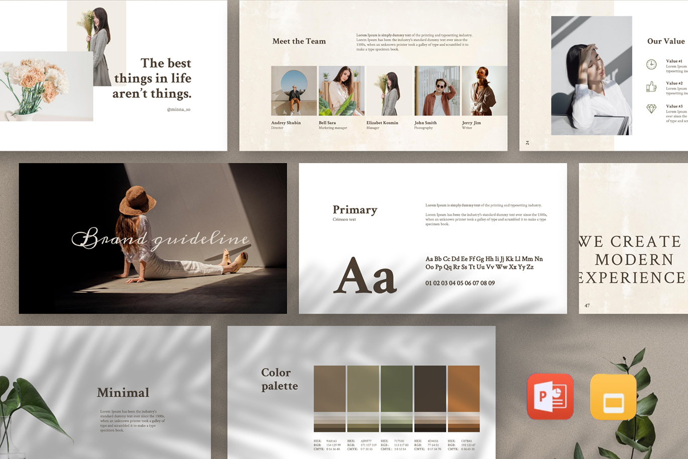 MERYLIN - Brand Guidelines Animated Bundle PowerPoint Template