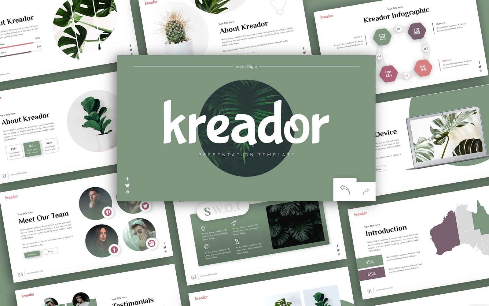 Kreador Creative Presentation PowerPoint Template