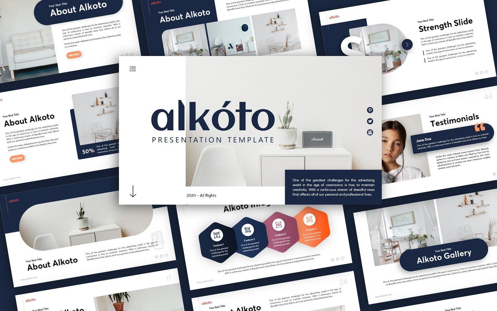 Alkoto Creative Presentation PowerPoint Template