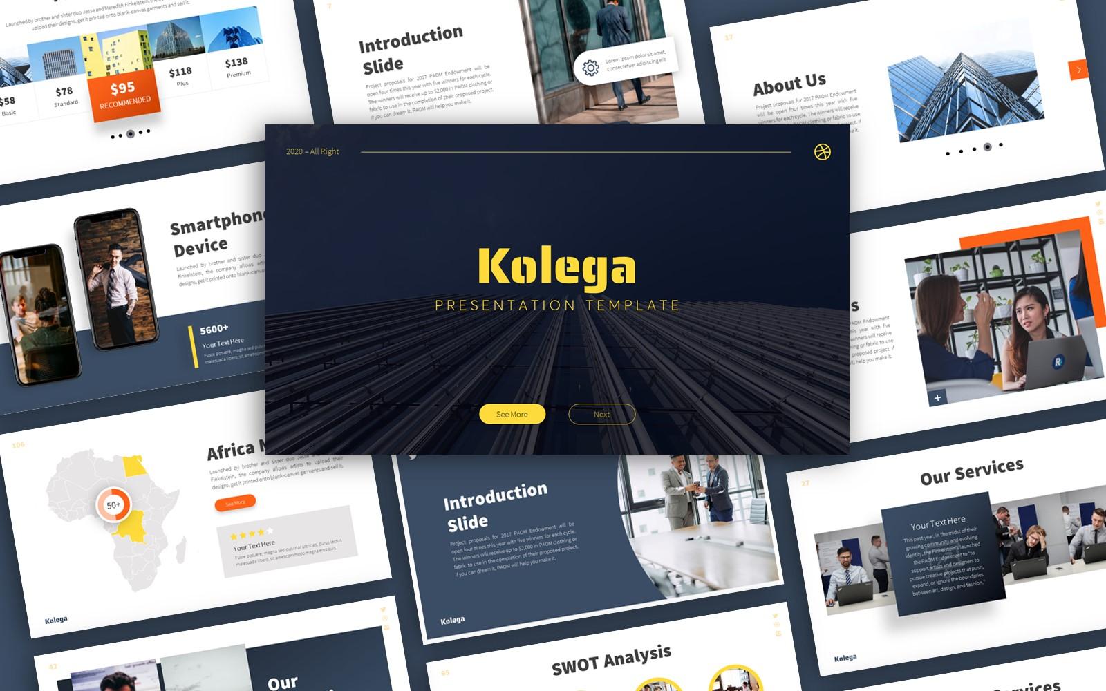 Kolega Business Presentation PowerPoint Template