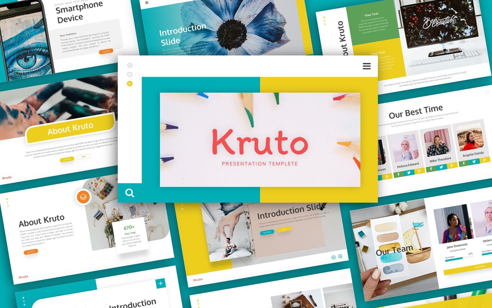 Kruto Creative Presentation PowerPoint Template