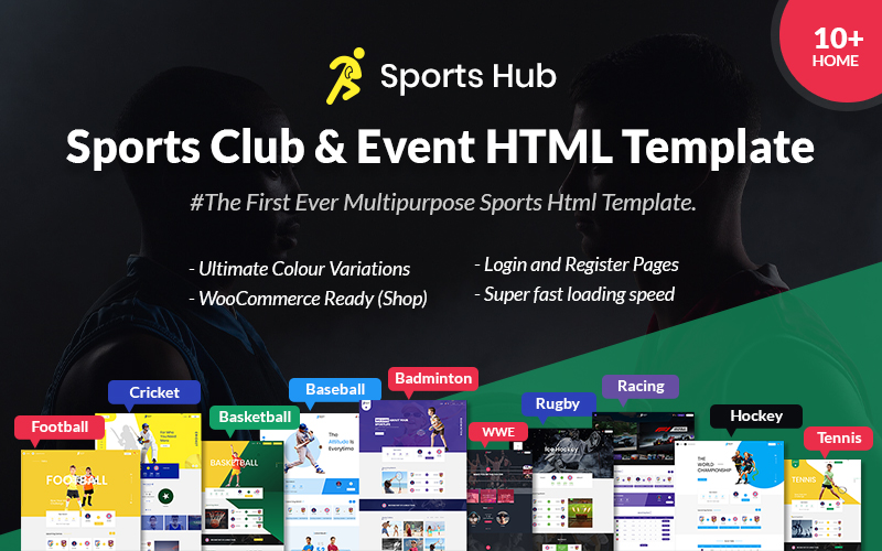 Sports Hub - Sports Club and Event Landing Page Template