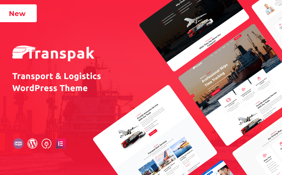 Transpak - Transport & Logistics WordPress Theme