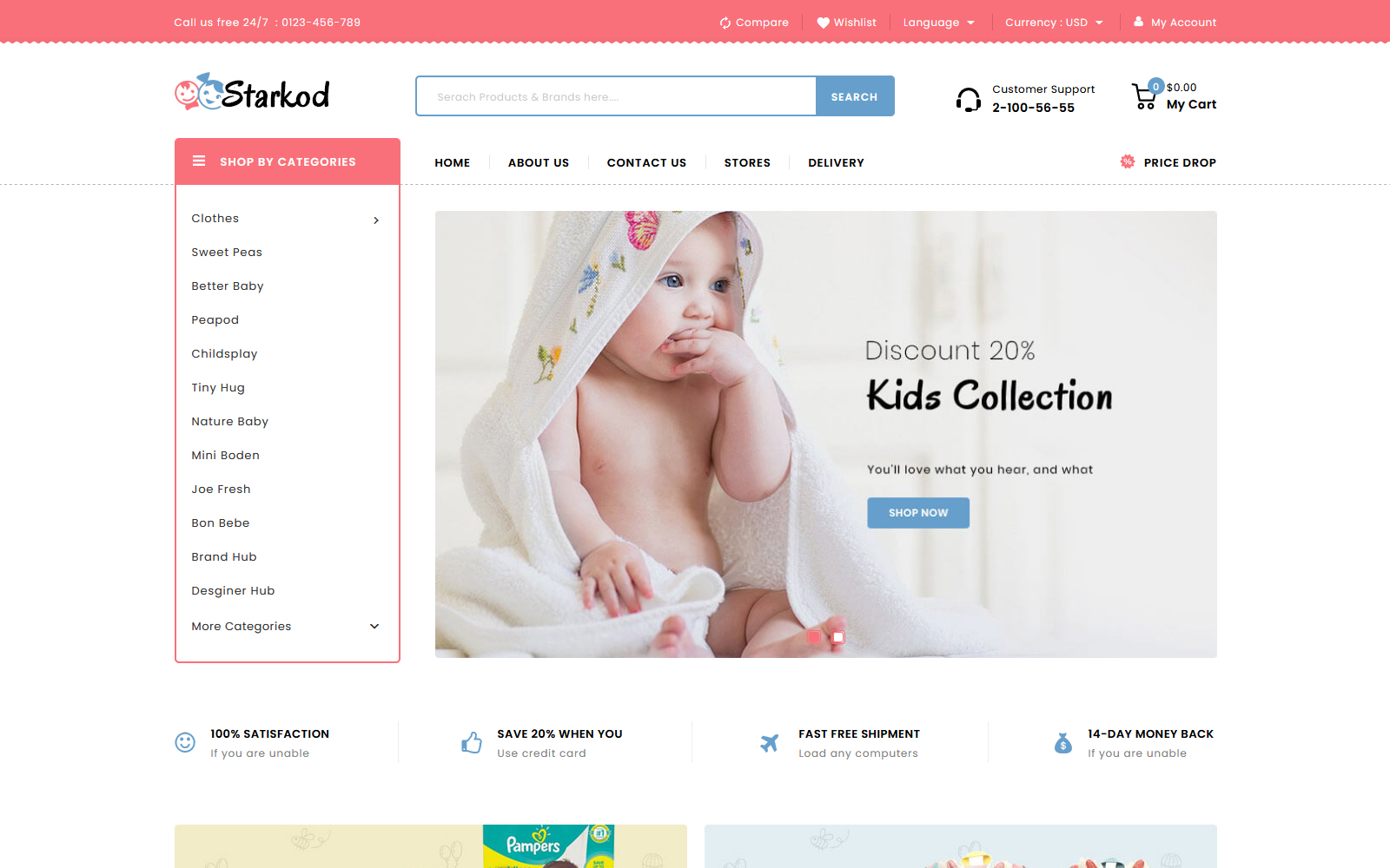 Starkod - Kids and Toys Store PrestaShop Theme