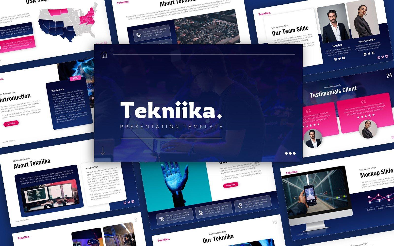 Tekniika Technology Presentation PowerPoint Template