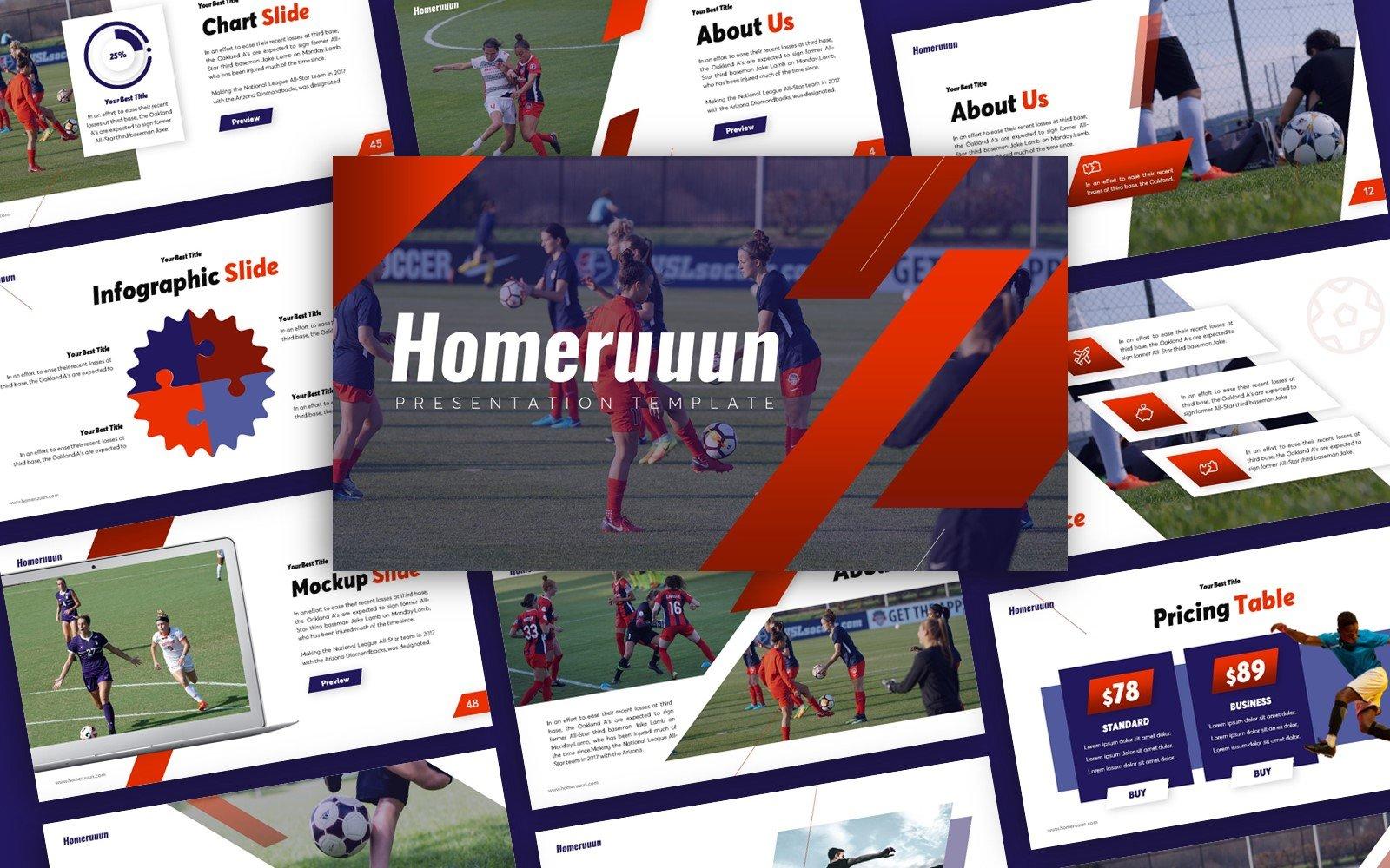 Homeruuun Sport Presentation PowerPoint Template