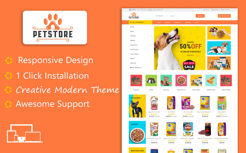 Petstore - Animal and Pet Responsive OpenCart Template