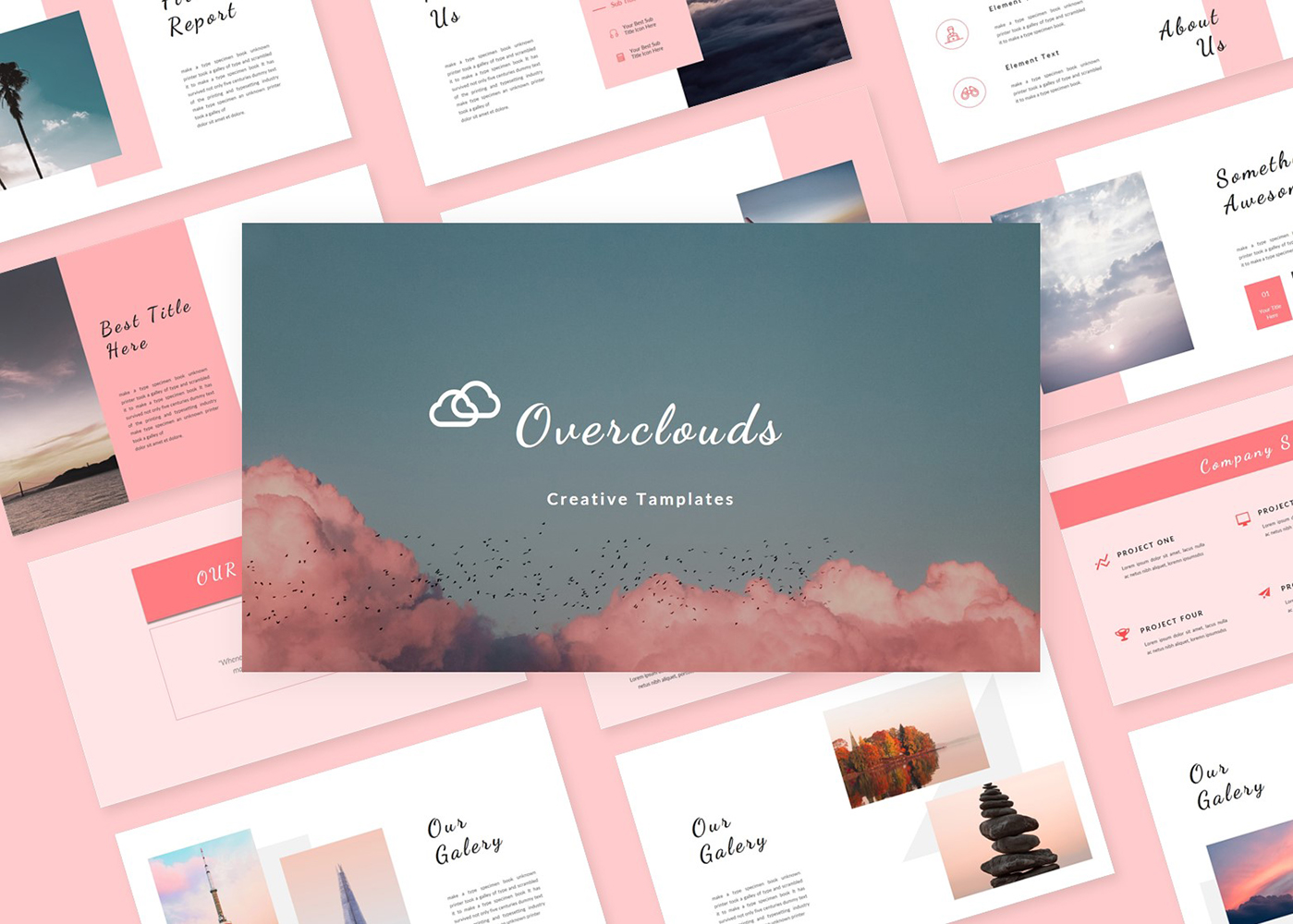 Overclouds Creative Template PowerPoint Template