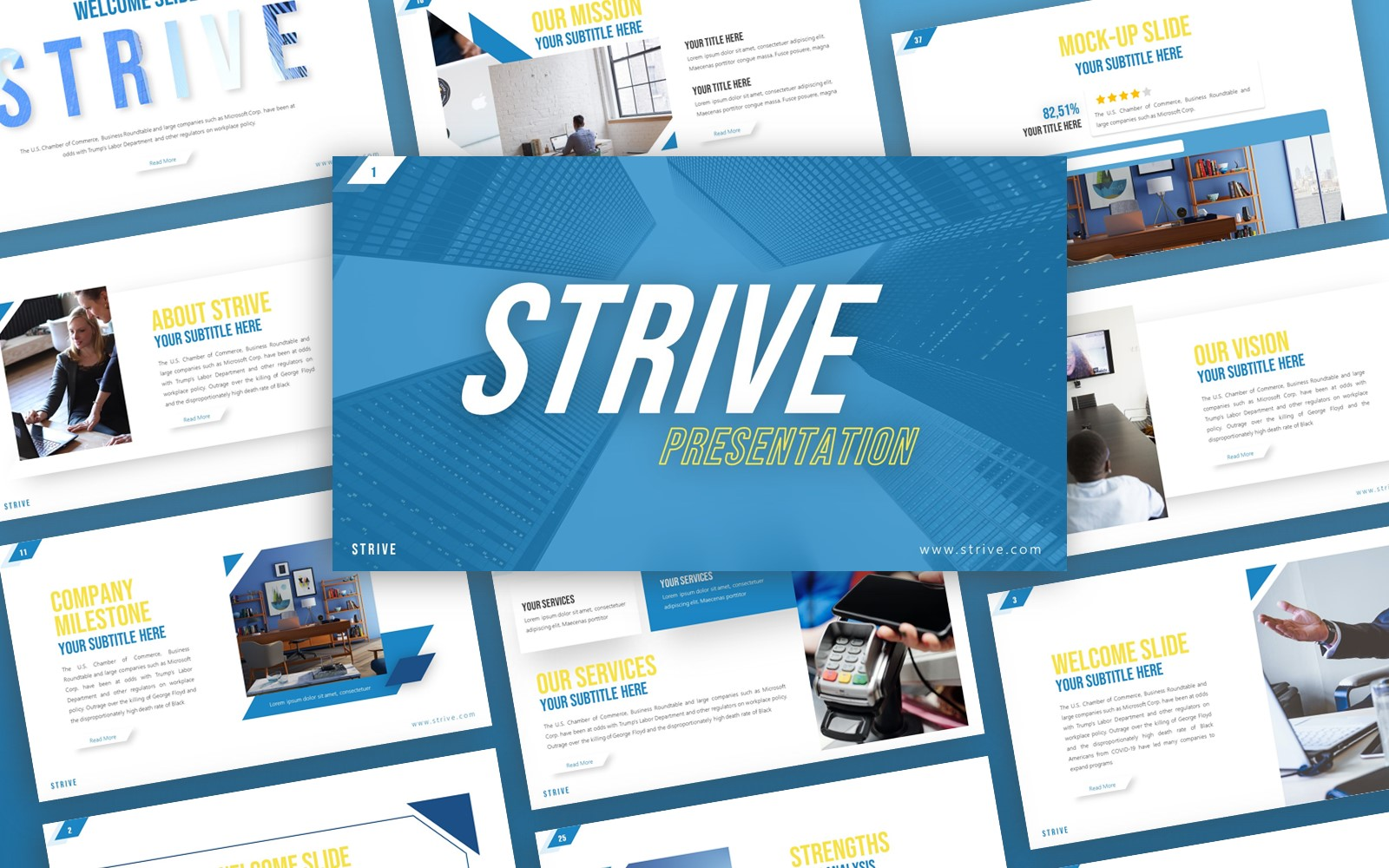 Strive Corporate Presentation PowerPoint Template
